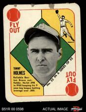 1951 Topps Red Back #52 Tommy Holmes Boston in Bio Braves GOOD