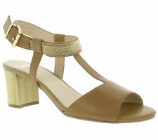 Caprice Bullet Shoes Women's Real Leather Sandals Sandals Brown 9-28301-28 324
