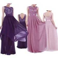 Womens Long Prom Lace Formal Evening Cocktail Party Bridesmaids Gowns Full Dress
