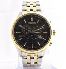 Citizen AT2146-59E Eco-Drive Rose Gold Chrono Sapphire Crystal Mens Watch