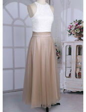 Embroidery Lace Tank Top Bridesmaid Maxi Skirt Formal Long Dresses Evening Party