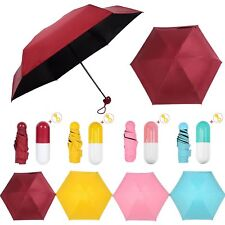 Ultra Mini Light Pocket Umbrella 5 Folding Compact Anti-UV Protection Parasol