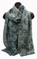 Baby Alpaca and Silk Jacquard Paisley Scarf, more Durable than Cashmere