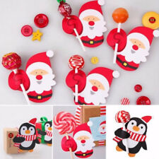 50X Christmas Lollipop Sticks Paper Candy Chocolate Cake Pops Party Decoration