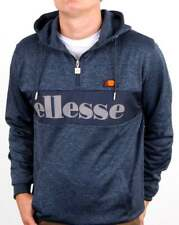 Ellesse Emiro Quarter Zip Hoody in Navy Marl - track top, sweat, hoodie