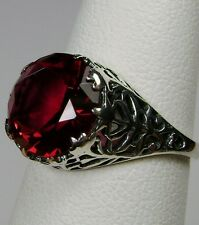 4ct *Red Ruby* Sterling Silver Ivy Nouveau Filigree Ring Size (Made To Order)
