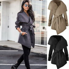Women Winter Coat Trench Parka Long Jacket Overcoat Warm Outwear Windbreaker