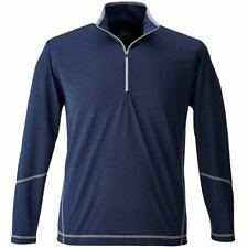 Page & Tuttle COVERSTITCH HEATHER MOCK Navy - Mens  - Size