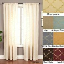 Medici Trellis Embroidered 84-inch Curtain Panel - 55 x 84