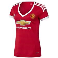 Manchester United FC Official Soccer Womens Ladies Adidas Home Kit Shirt