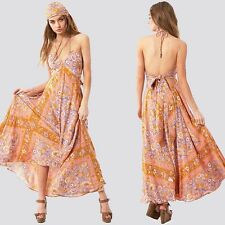 Boho Gypsy Ethnic Floral Print Womens Evening Party Summer Long Maxi Dress 8-20