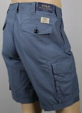 Polo Ralph Lauren Blue Classic Fit Buttoned Chino Cargo Shorts NWT