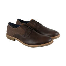 Ben Sherman Luke Captoe Mens Brown Leather Casual Dress Lace Up Oxfords Shoes