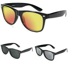 New Mens Womens Vintage Retro UV400 Designer Fashion Black Sunglasses SE40