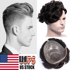 Hairpiece Replacement System Virgin Human Hair Toupee Wig For Man Skin Lace F502
