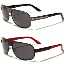 New Khan Mens Women Unisex Black Metal Polarized Sunglasses UV400 Aviator 60