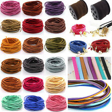 New DIY 10-100Yards 3mm Suede Leather String Jewelry Making Bracelet Thread Cord
