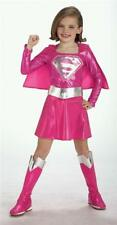 Superhero Pink Supergirl Fancy Dress Costume - Deluxe