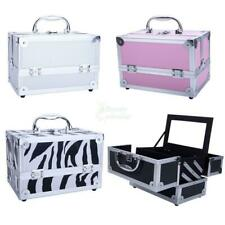 Professional Travel Aluminum Makeup Train Case Cosmetic Box Tool w/ Mirror Draw