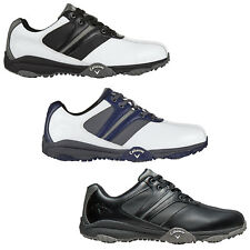 Callaway Mens Chev Series Comfort 2 II Golf Shoes - New Waterproof Leather