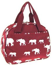 Elephant Insulated Lunch Tote Bag-- Burgundy - Few in STOCK