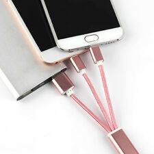 Portable 3 in 1 8 Pin Micro USB Sync Data Line Charging Cable Charger For iPhone