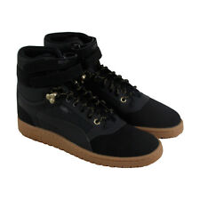 Puma Sky Ii Hi Mens Black Leather High Top Lace Up Sneakers Shoes