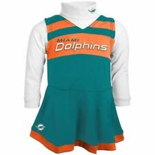 Miami Dolphins Cheerleader Cheer Dress Girl's 4-6x 2-Pc Cheer Jumper Turtleneck