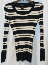 NWT Hooked Up Juniors Striped Rib-Knit Sweater Blue Grey Vanilla S M L XL $34