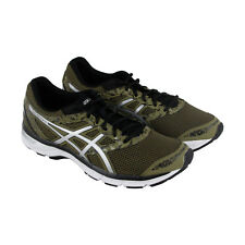 Asics Gel Excite 4 Mens Green Gray Mesh Athletic Lace Up Running Shoes