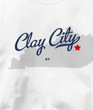 Clay City, Kentucky KY MAP Souvenir T Shirt All Sizes & Colors