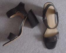 NEW Black-Brown Genuine Leather NINE WEST $89 Sandals Shoes 10 or 11 Beautiful