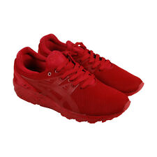 Asics Gel Kayano Trainer Evo Mens Red Mesh Athletic Lace Up Training Shoes