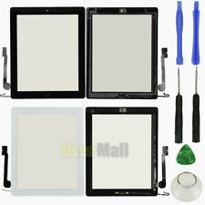 Front Glass Touch Screen Digitizer W/ Home Button Assembly For iPad 4 3 + Tools