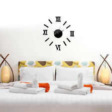3D Mute Wall Clock Sticker DIY Watch for Living Room Bedroom Wall Decoration