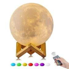 3D Magical LED Luna Night Light Moon Lamp 16 Color Charging Touch Remote Control