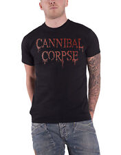 Cannibal Corpse T Shirt Dripping Original Band Logo Official Mens New Black