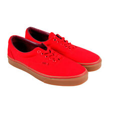 Vans Era Mens Red Canvas Lace Up Sneakers Shoes