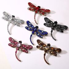 Vintage Rhinestone Animal Dragonfly Chain Brooch Pin Necklace Jewelry Gift 2018