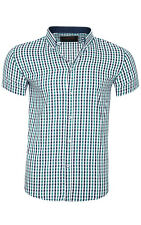 glo-story Check Shirt Men Short Sleeve Green mcs-3826 Leisure