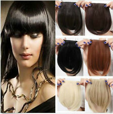 Lady  Fringe Bang Hairpiece Clip-In Front Hair Extension Straight Synthetic Hair