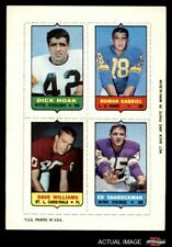 1969 Topps 4-in-1 Football Stamps Dick Hoak / Roman Gabriel / Dave Williams / VG