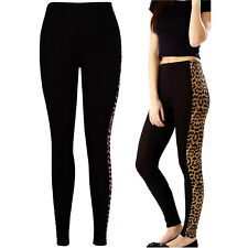 Womens Leopard Leggings Sports Gym Yoga Running Fitness Pants Ladies Trousers