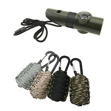 7 in1 Camping Survival Tool + Survival Camping Fishing Paracord Emergency Pack