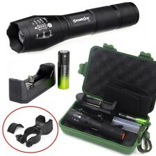 20000 LM T6 Zoomable Tactical LED Flashlights Torch +18650 Battery bike clip