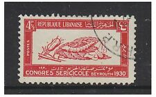 Lebanon - 1930, 4 1/2p Silk Congress stamp - Used - SG 158