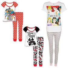 Womens Pyjamas Ladies Disney Novelty PJs Nightwear Cotton Top Pant Sleepwear Set