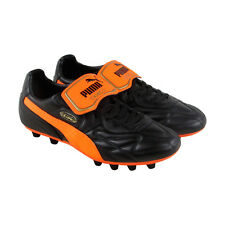 Puma King Top M.I.I Fg Mens Black Leather Athletic Soccer Cleats Shoes