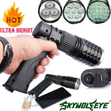 Tactical 16 LED Lights Rechargeable 80000LM Flashlight USB Chargers T6 LED Torch