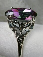 8ct Rainbow *Mystic Topaz* Sterling Silver Swirl Filigree Ring [Made To Order]